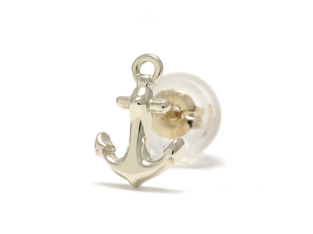 Anchor Pierce - K10Yellow Gold