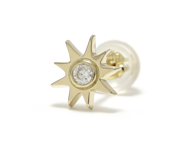Sun Pierce - K18Yellow Gold w/Diamond