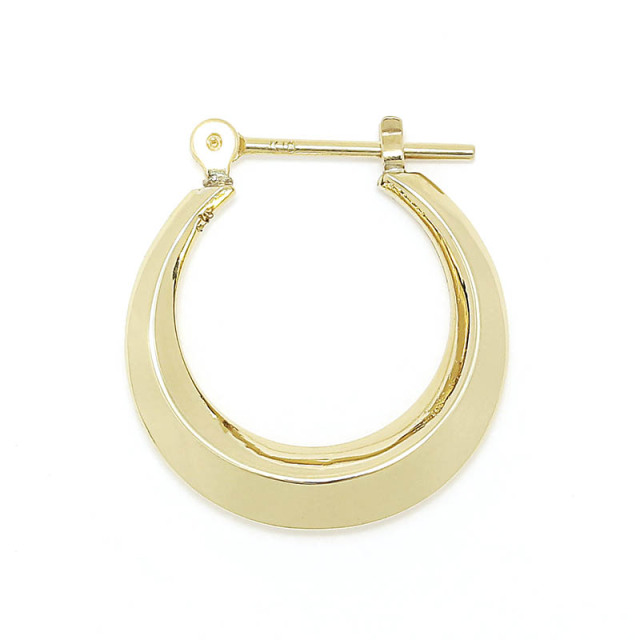 Moon Hoop Pierce - K18Yellow Gold