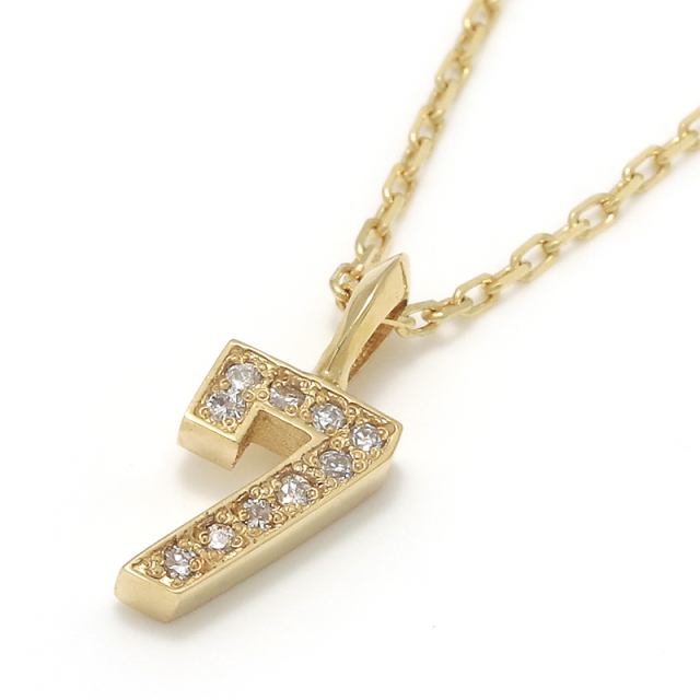 Number Necklace - K18Yellow Gold w/Diamond