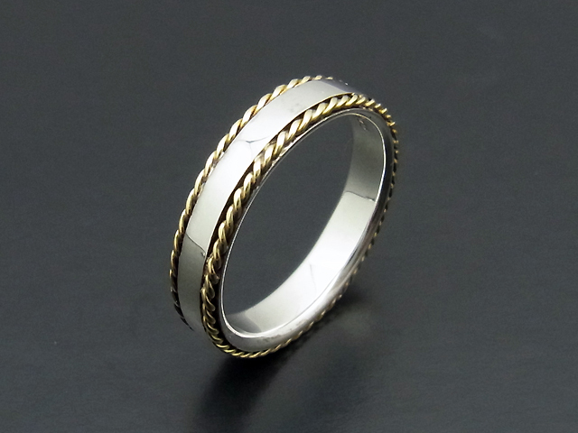 Rope Ring - Silver&K18YG