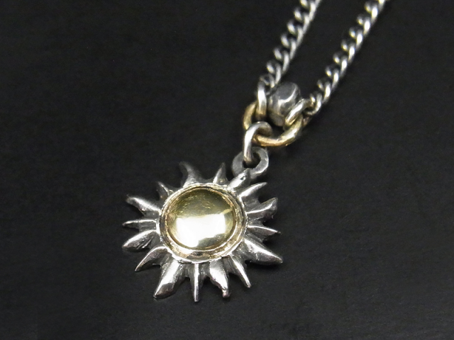 S.O.S fp恵比寿店、Web限定 恵比寿店11周年記念 Sun Necklace w/K10 Yellow Gold