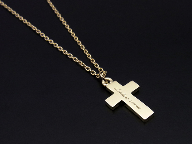 Cross Necklace - K10 Yellow Gold
