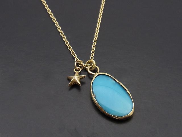 ATELIER MADE Arizona Turquoise Necklace - K10 Yellow Gold