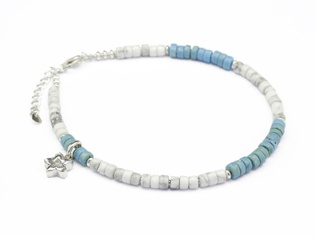 Lono×SYMPATHY OF SOUL Collaboration Beads Anklet w/Plumeria Charm