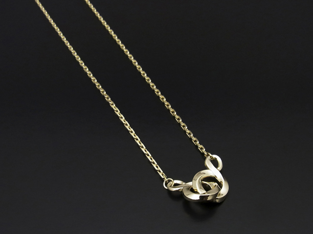 Double S Necklace - K10Yellow Gold
