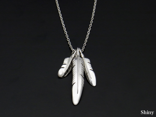 3Feather Necklace - Silver