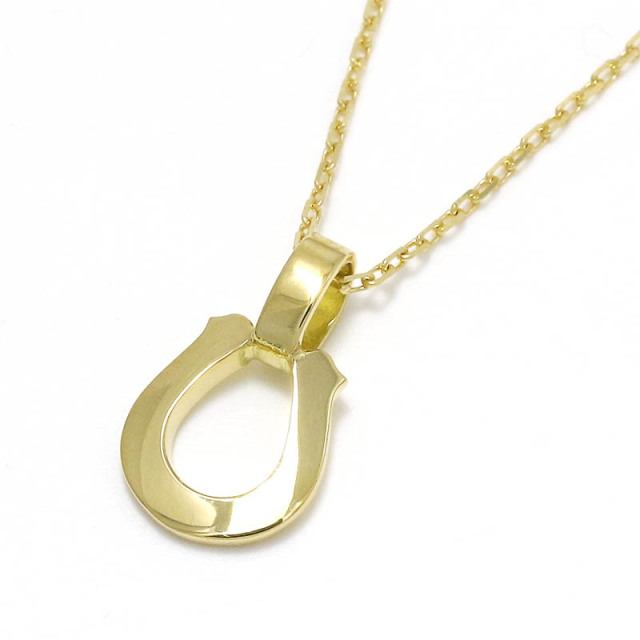 Small Charm Necklace - Horseshoe - K18 Yellow Gold