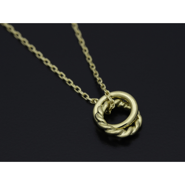 Small Charm Necklace - W Ring - K18Yellow Gold