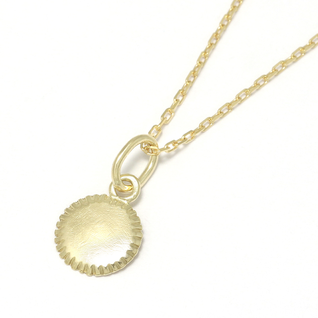 Small Charm Necklace - Mirror - K18Yellow Gold