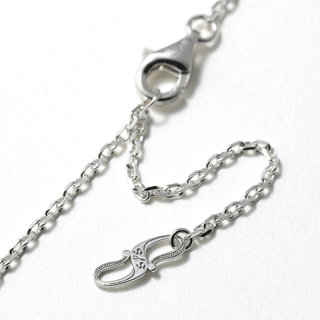Ridge Horseshoe Necklace - Silver