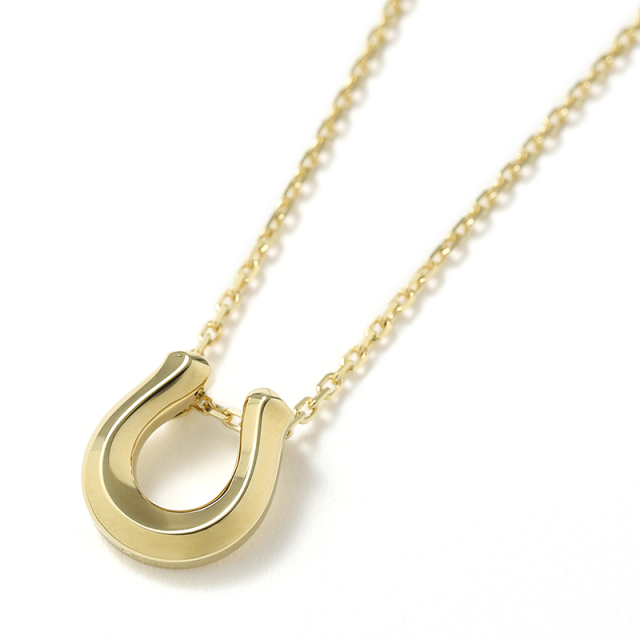 Ridge Horseshoe Necklace - K18Yellow Gold