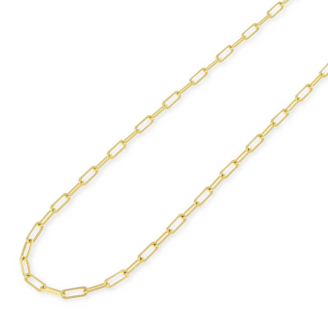Plain Chain Necklace - K18Yellow Gold