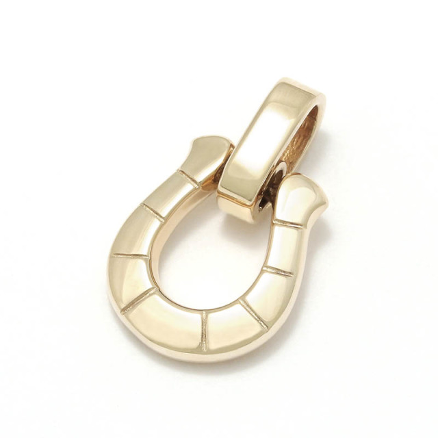 Horseshoe Amulet - K10Yellow Gold