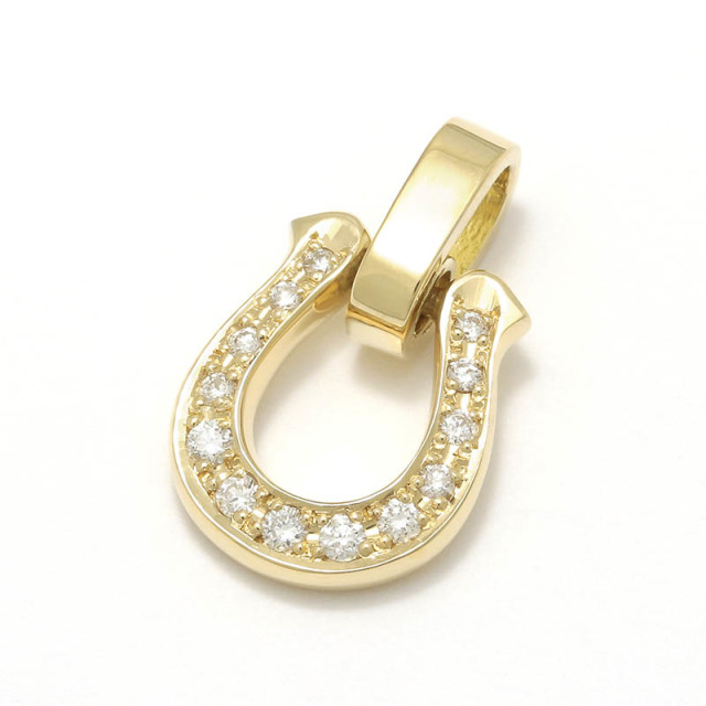 Horseshoe Amulet - K18Yellow Gold w/Diamond