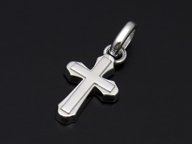Smooth Cross Pendant - Silver