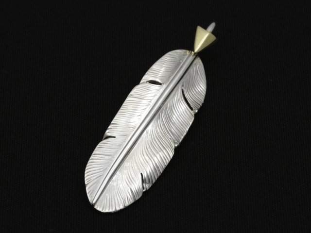 Arrow Feather Pendant No.001 - Silver × K18 Yellow Gold