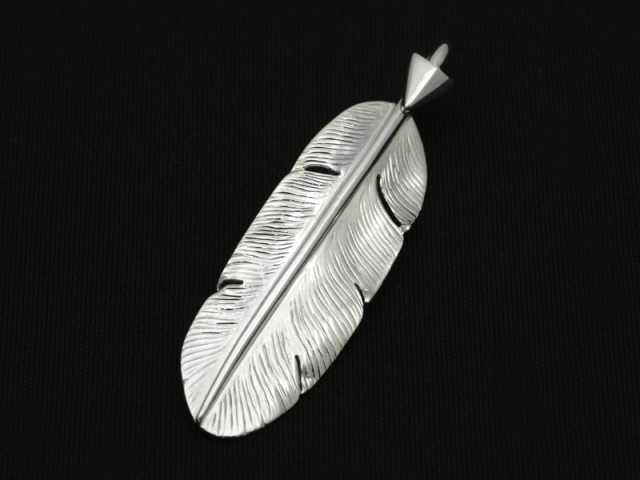 Arrow Feather Pendant No.001 - Silver