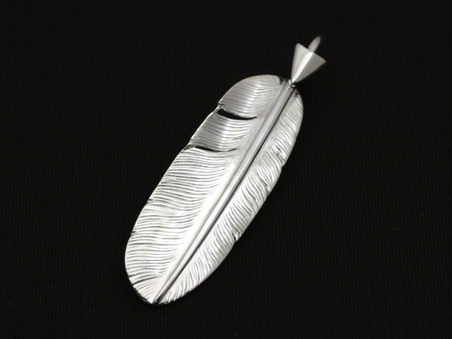 Arrow Feather Pendant No.002 - Silver