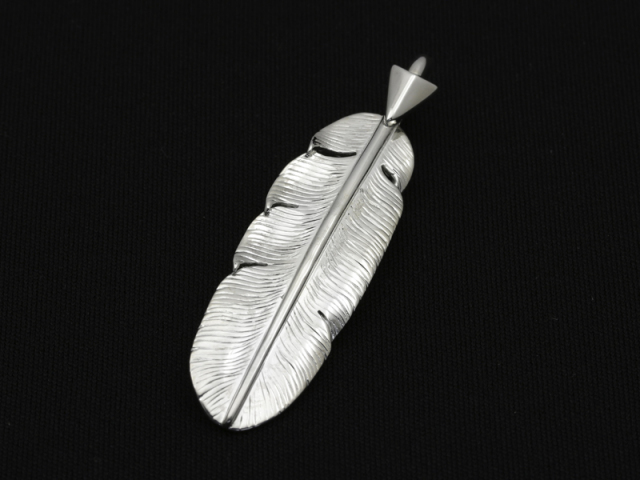 Arrow Feather Pendant No.003 - Silver