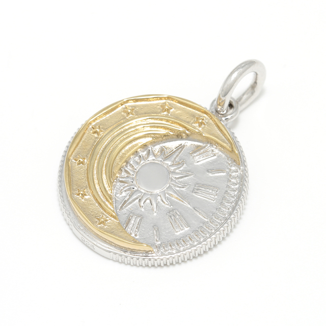 Eclipse Coin Pendant - Silver