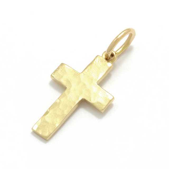 Hammer Cross Pendant - K18Yellow Gold
