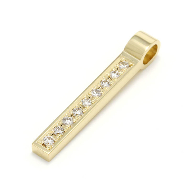Rod Pendant - K18Yellow Gold w/Diamond