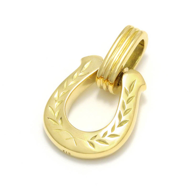Horseshoe Amulet - Laurel - K18Yellow Gold