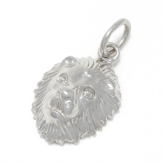 Small Lion Head Charm - Silver
