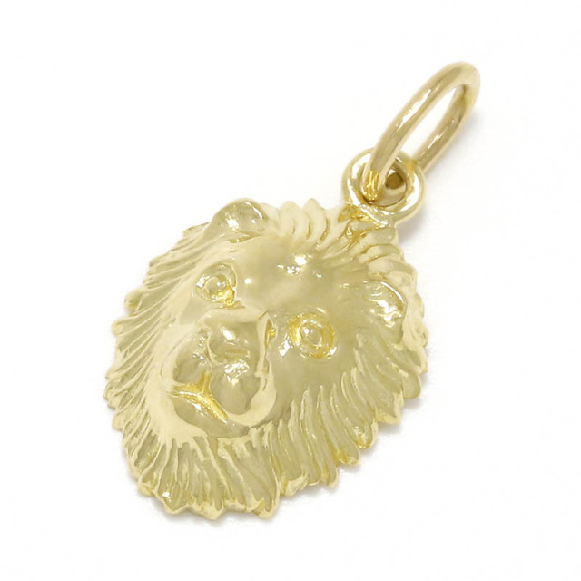 Small Lion Head Charm - K18Yellow Gold