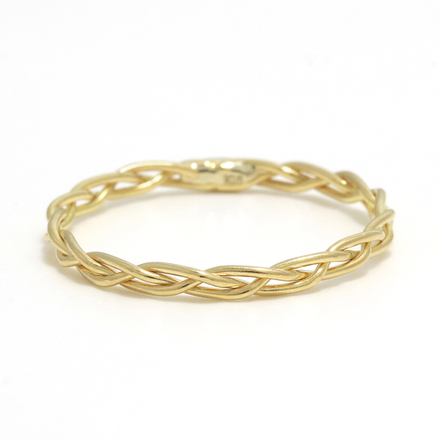 Woven Ring - S K18Yellow Gold