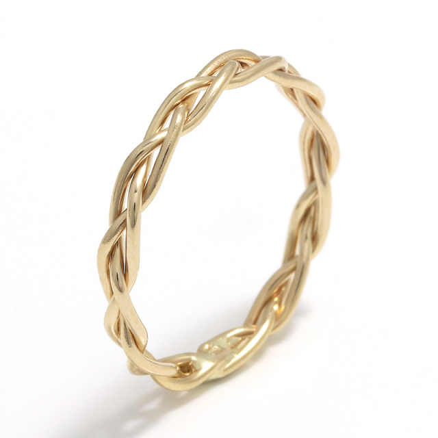 Woven Ring - L K10Yellow Gold