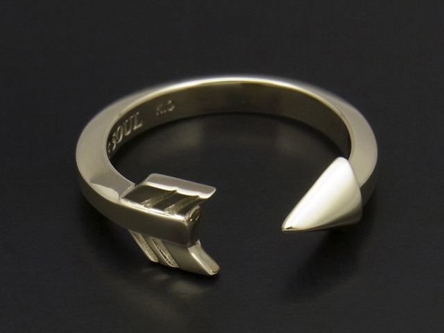 Arrow Ring - K10 Yellow Gold