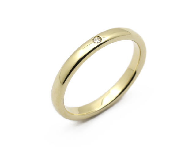 Posy Ring - K10 Yellow Gold w/Diamond