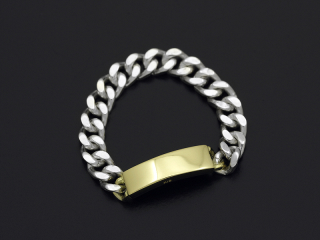 ID Chain Ring - Silver×K18Yellow Gold