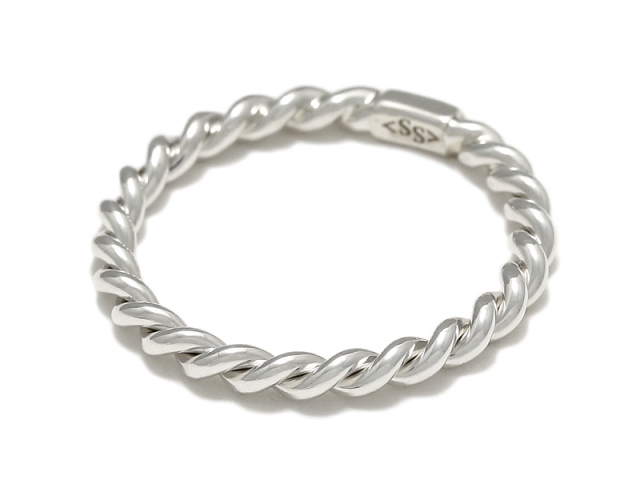 Rope Ring - S Silver