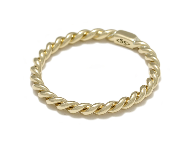 Rope Ring - S K18Yellow Gold