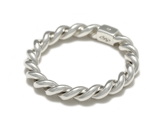 Rope Ring L - Silver