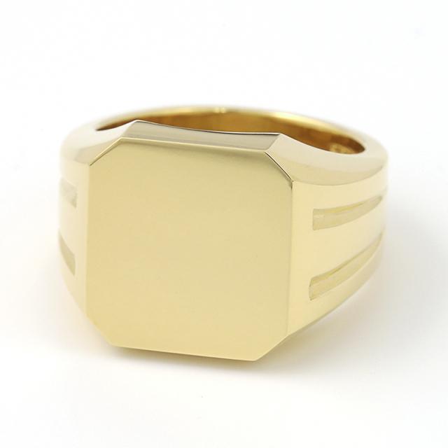 Large Signet Ring - K18Yellow Gold