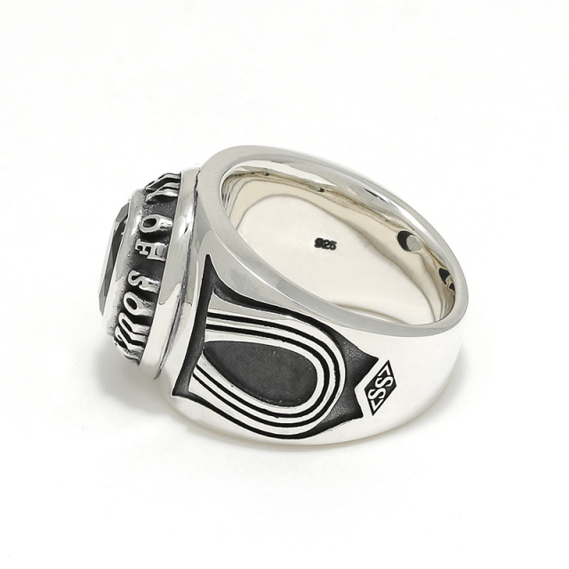 Horseshoe College Ring - Silver