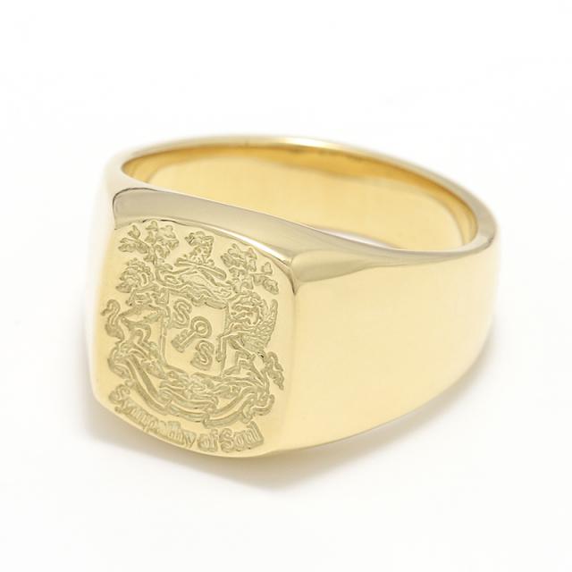 Signature Ring - K18Yellow Gold