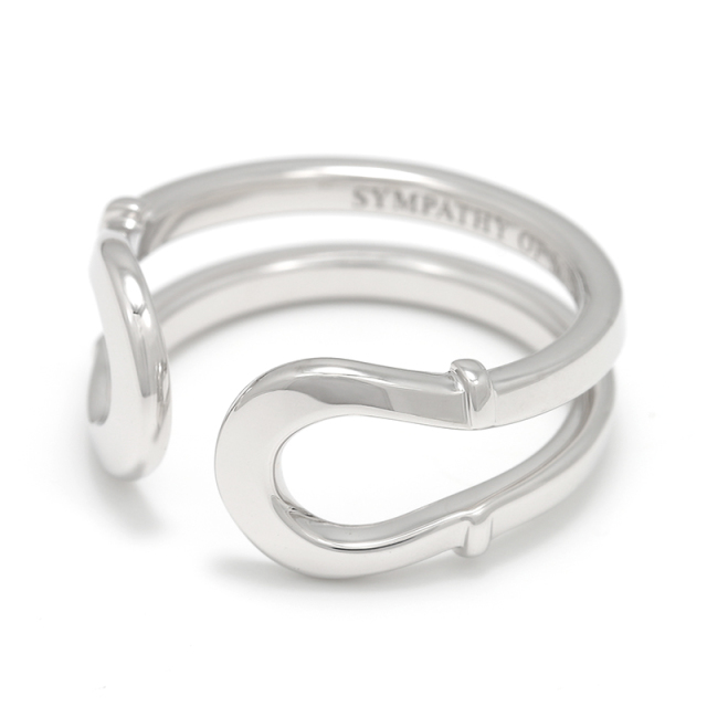 Double Horseshoe Ring - Silver