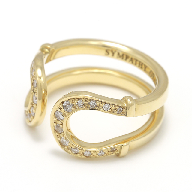 Double Horseshoe Ring - K18Yellow Gold w/Diamond
