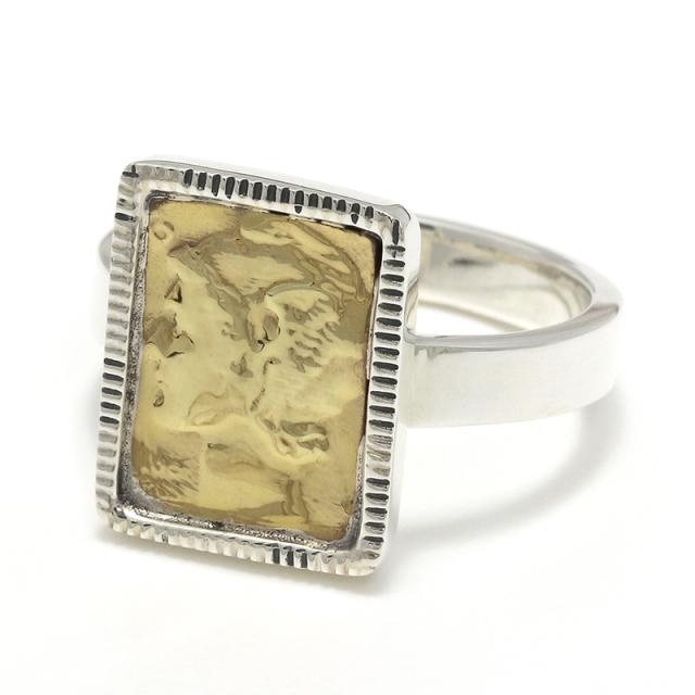 Liberty Head Ring - Silver×Brass