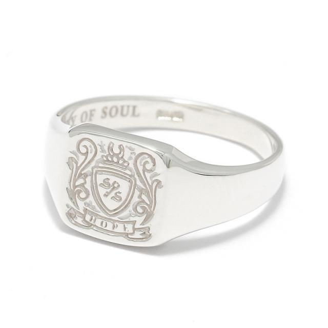 Small Signature Ring - Silver