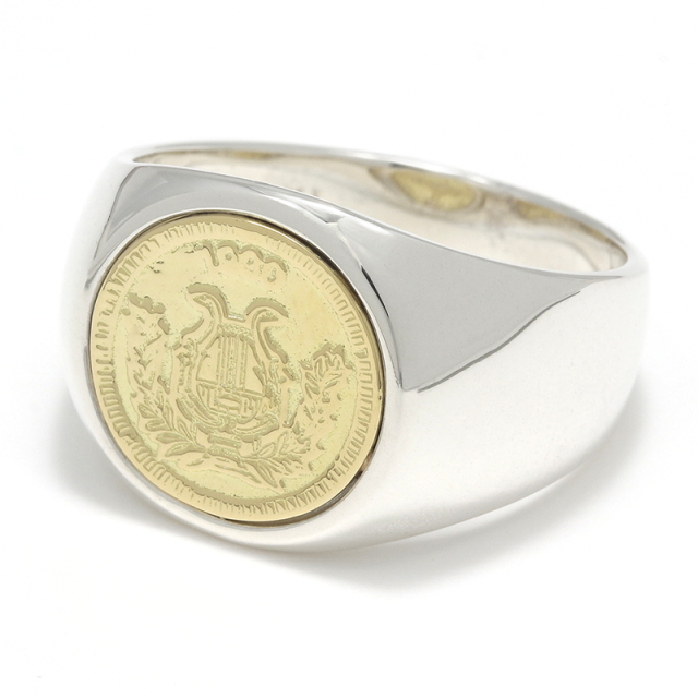 Classic Coin Ring / Good Luck - Silver×K18Yellow Gold