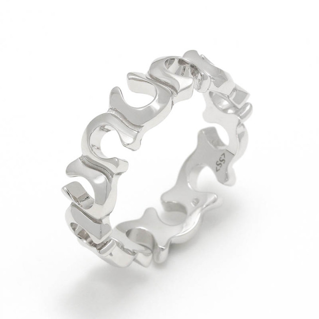 Horseshoe Round Ring - Silver