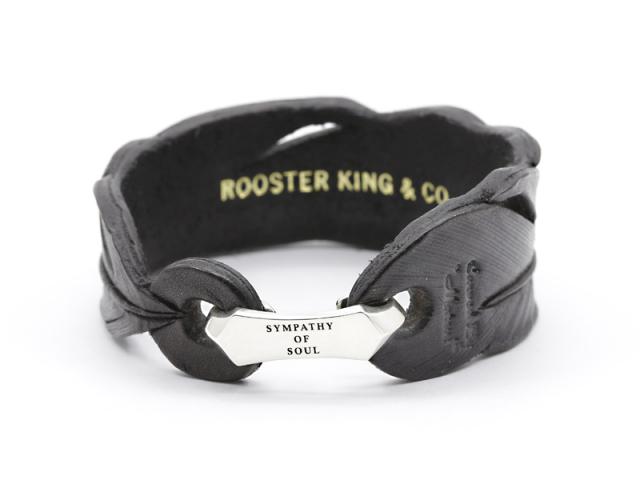 Rooster King & Co.,×SYMPATHY OF SOUL Collaboration Leather Bracelet