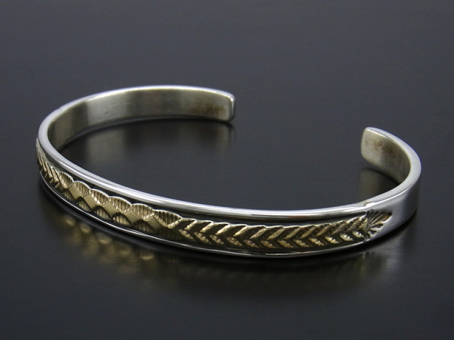 BRUCE MORGAN Silver × K14YG Bangle