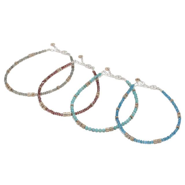 MOKUME Slice Beads Anklet